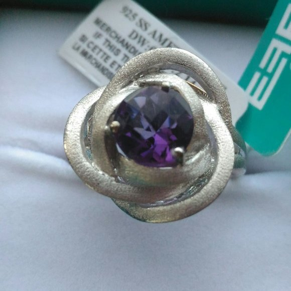 NWT EFFY Sterling Silver and Amethyst Ring Size 7